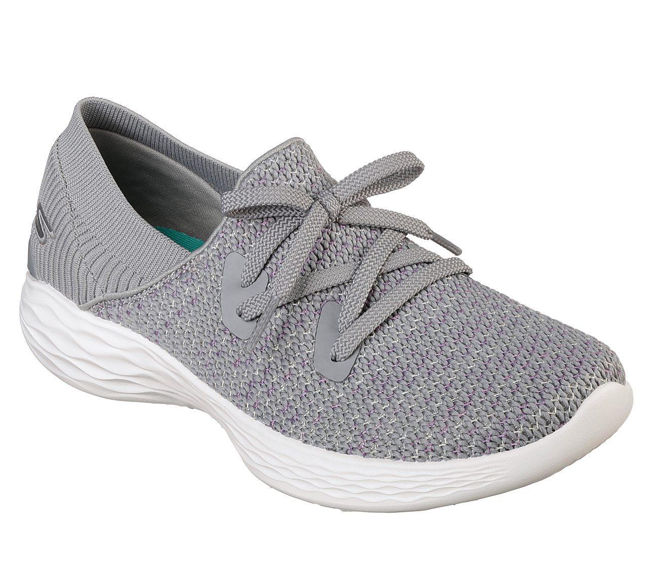 Skechers - YOU - Prominence Sepatu Sneakers Wanita - Abu-Abu de9d74e723