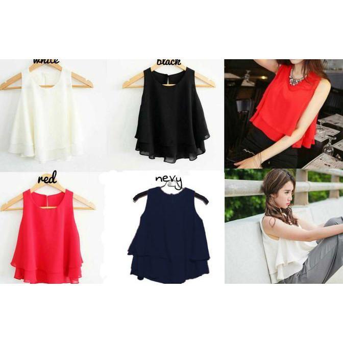 vshopjkt Livia Fashionable blouse bagus blus bagus kualitas baik baju wanita atasan wanita top wanita fashion