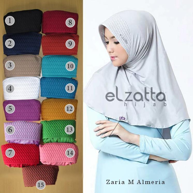 ELZATTA Hijab Kerudung Jilbab Instan Bergo Zaria M Almeria AsliTerbaru 1199