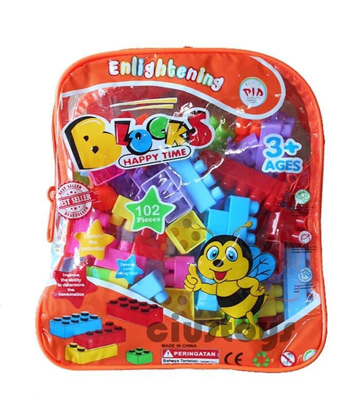 LEGO BLOCK TAS 102 pcs - MAINAN EDUKASI EDUKATIF HJ3836 c675845ff7