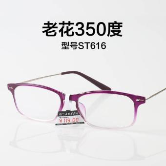 Beli sekarang SCOBER Kacamata baca Pria dan wanita modis Sangat Ringan  Schick minimalis Elegan Mudah Dibawa damar tua jala ringan sarung kulit  Presbiopi ... eae11fe079