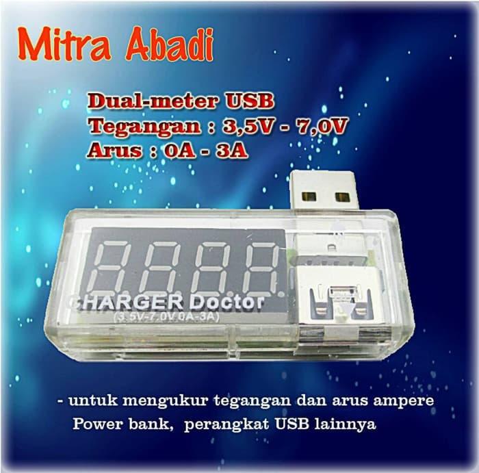 Charger Doctor USB Dual Combo Voltmeter-Amperemeter 3A 3,5V-7V