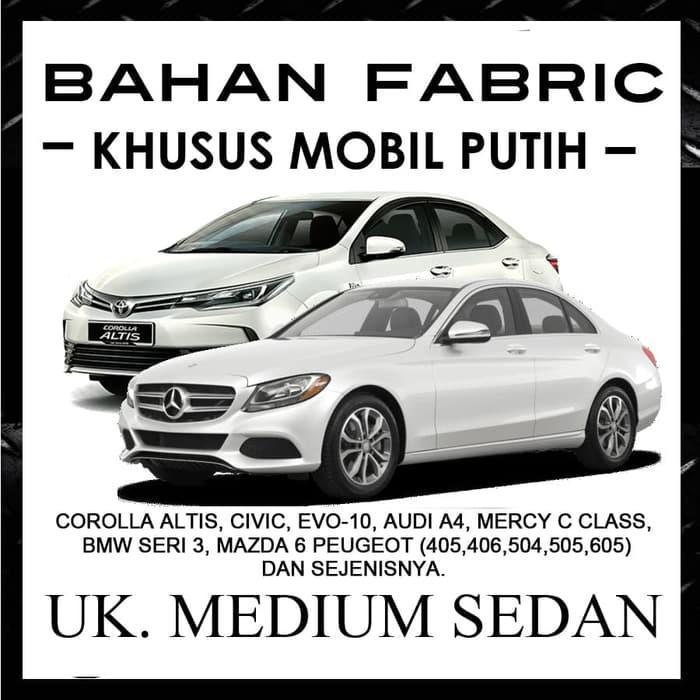 Cover Mobil Khusus Mobil Putih Ukuran Medium Sedan ALTIS, CIVIC, MERCY