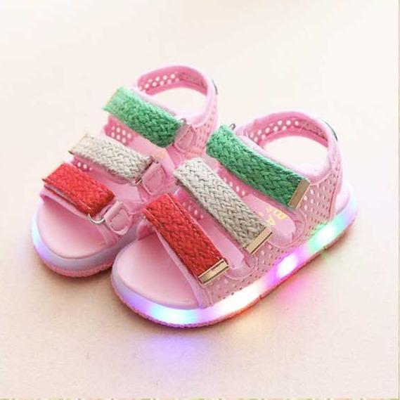 Sepatu Sandal Anak Import Sepatu Sandal LED Sepatu Sandal Lampu Anak Pink