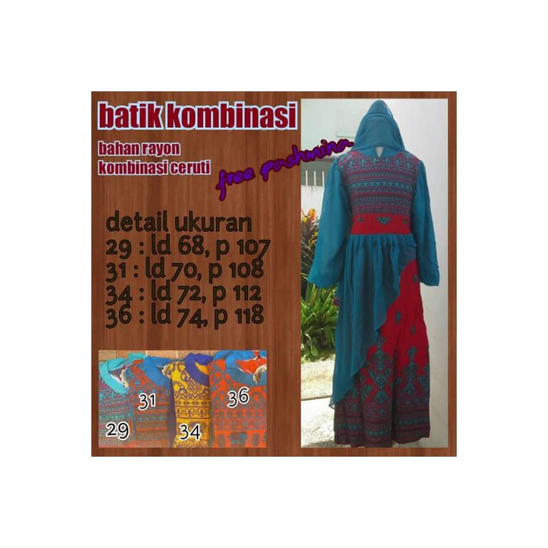 PROMO SALE BARU gamis anak batik kombinasi