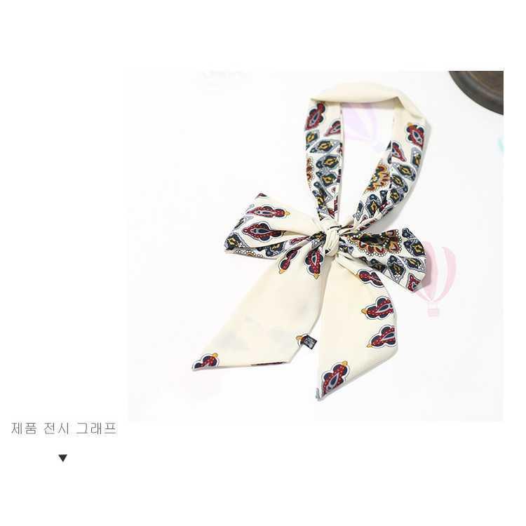 scraf motif bunga Kore color silk scarf chiffon scarf ribbon JSC006