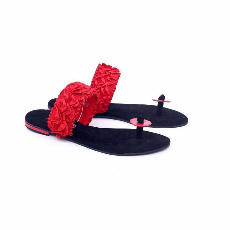 Garsel Shoes Sandal Kasual Wanita Merah - GIA 8584