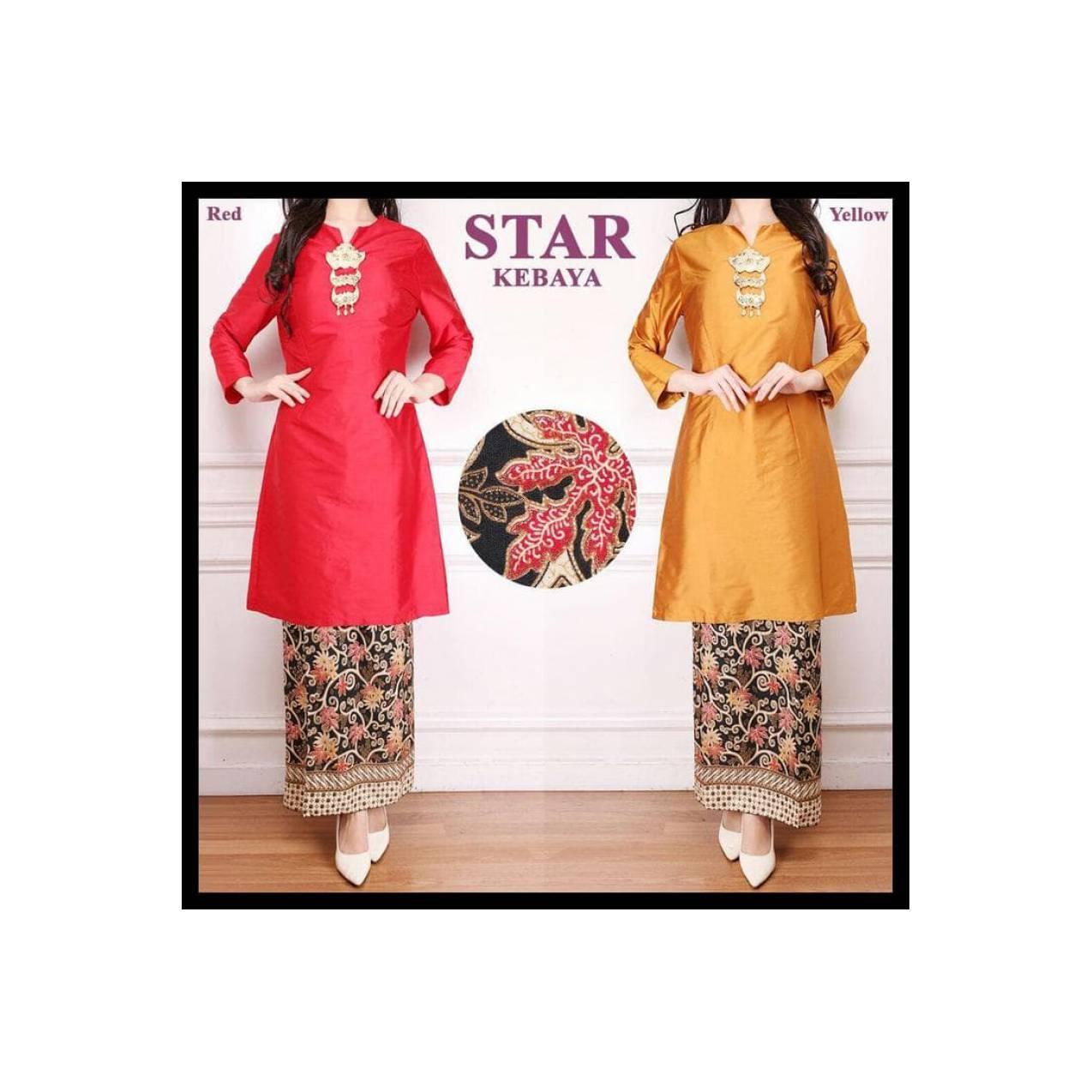 (Turun Harga!!) Baju Kurung Baju Malaysia Baju Melayu Taveta Merah Dan