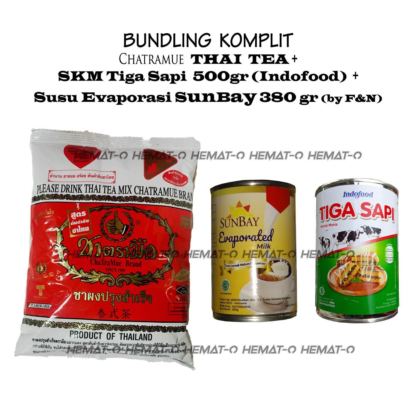 Bundling KOMPLIT THAI TEA SKM Tiga Sapi Susu Evaporasi SUNBAY PRM