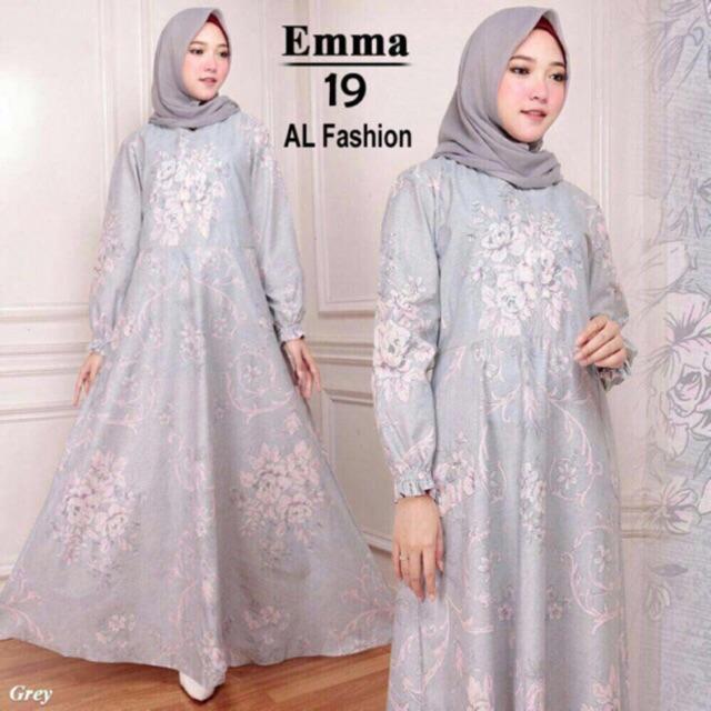 Gamis Wanita - maxi emma gamis syari busana muslim long dress ( dpt maxi aja )