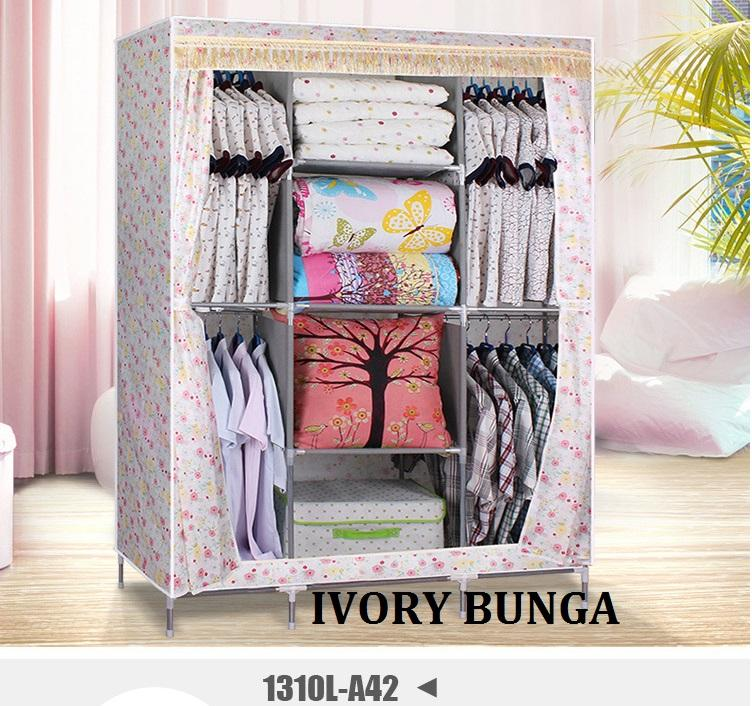 Lemari Baju Portable rak furniture pakaian cloth wardrobe 3 Skak