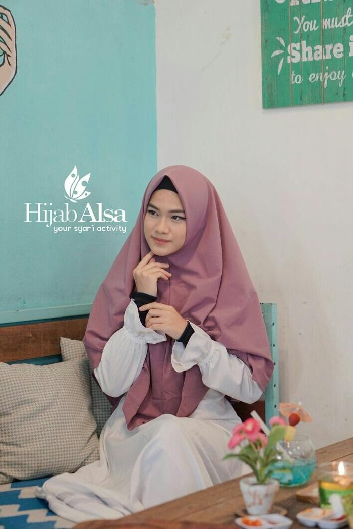 Khimar Hijab Alsa Khimar Shinta Ungu Anggur Size M A4457