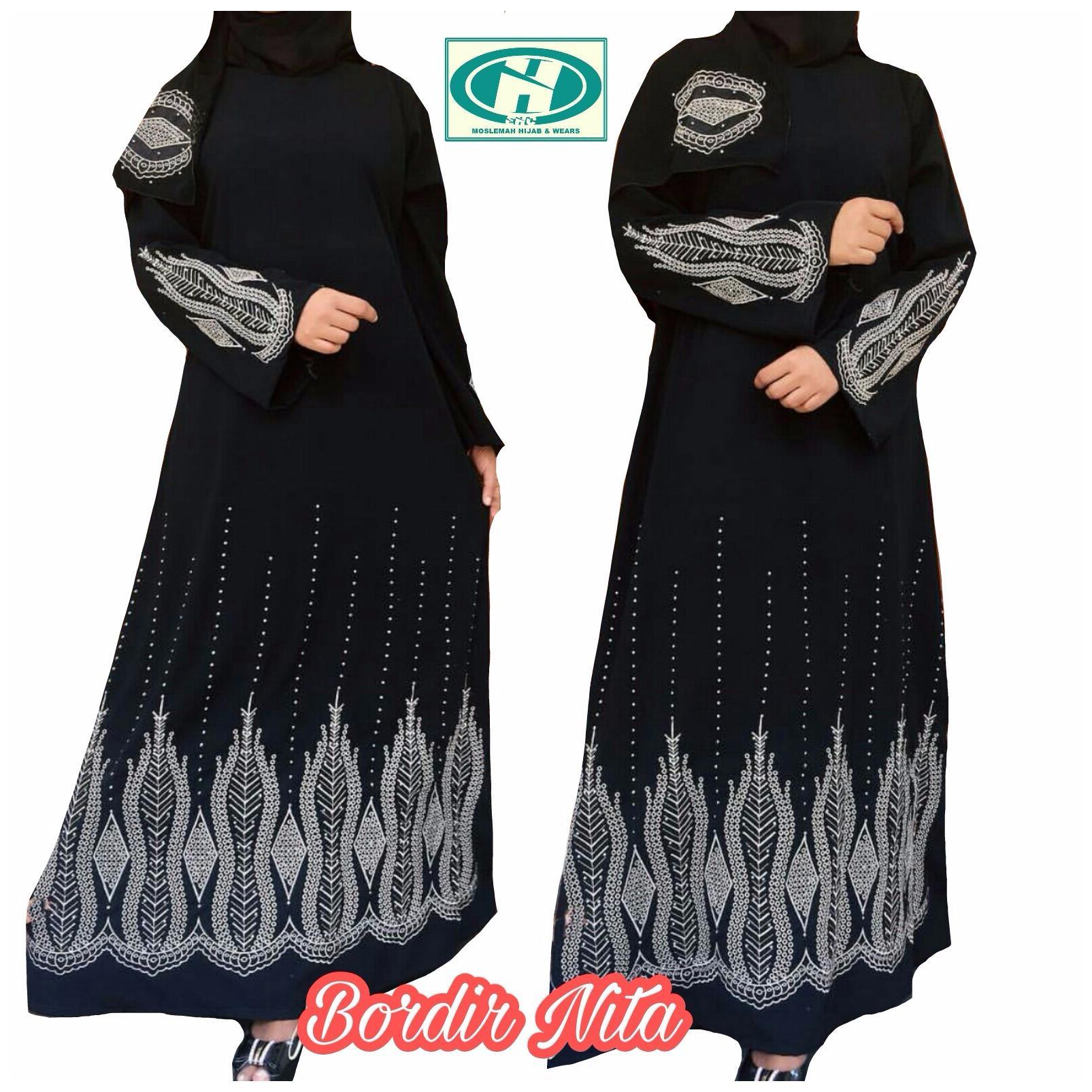Gamis abaya arab hitam / abaya nita