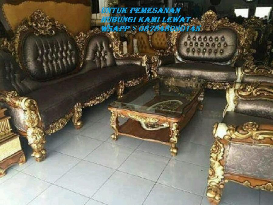 Kursi Sofa Tamu Klasic Ukir Kayu Jati Jepara Jika Berminat Hubungi Kami Lewat Wsapp_O87848050145_Kami