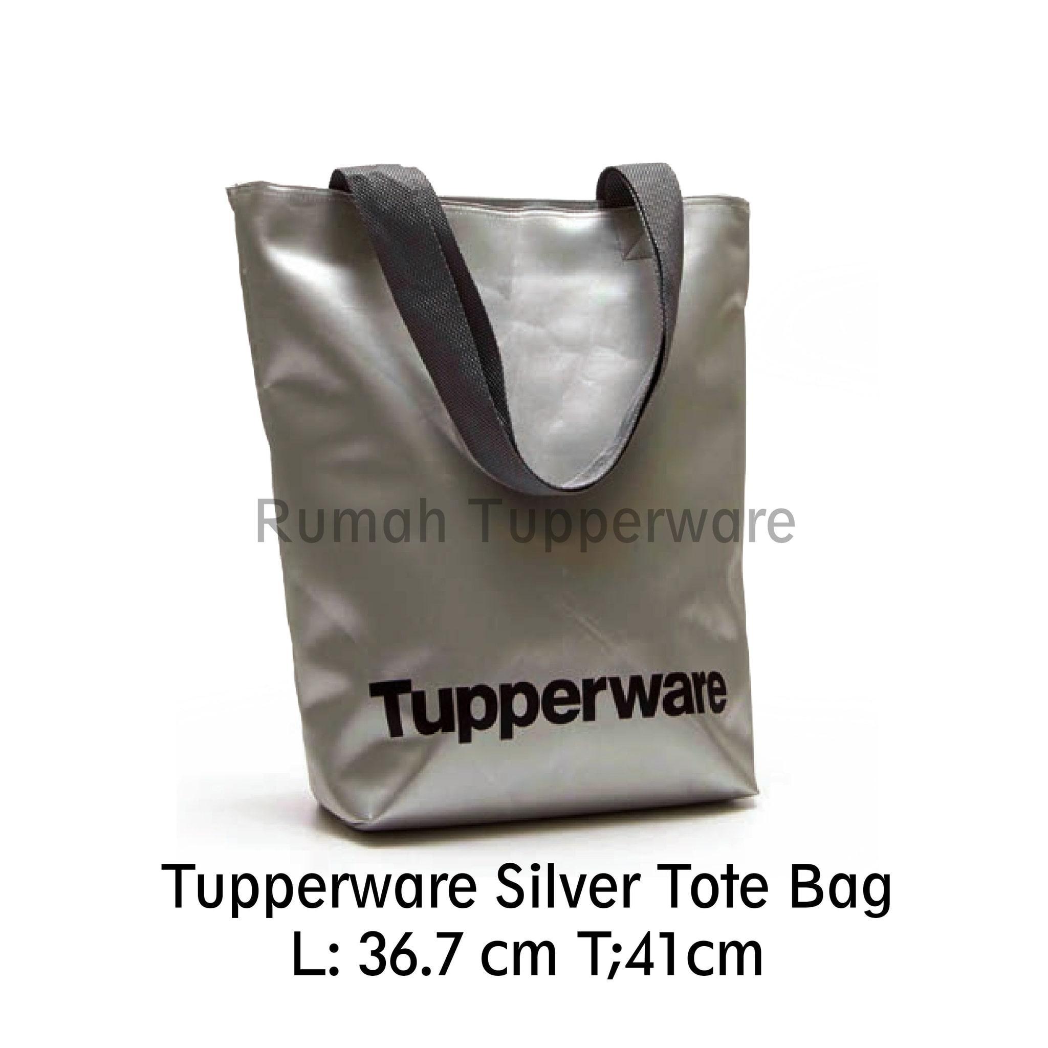 Tupperware Silver Tote Bag (Tas Original)