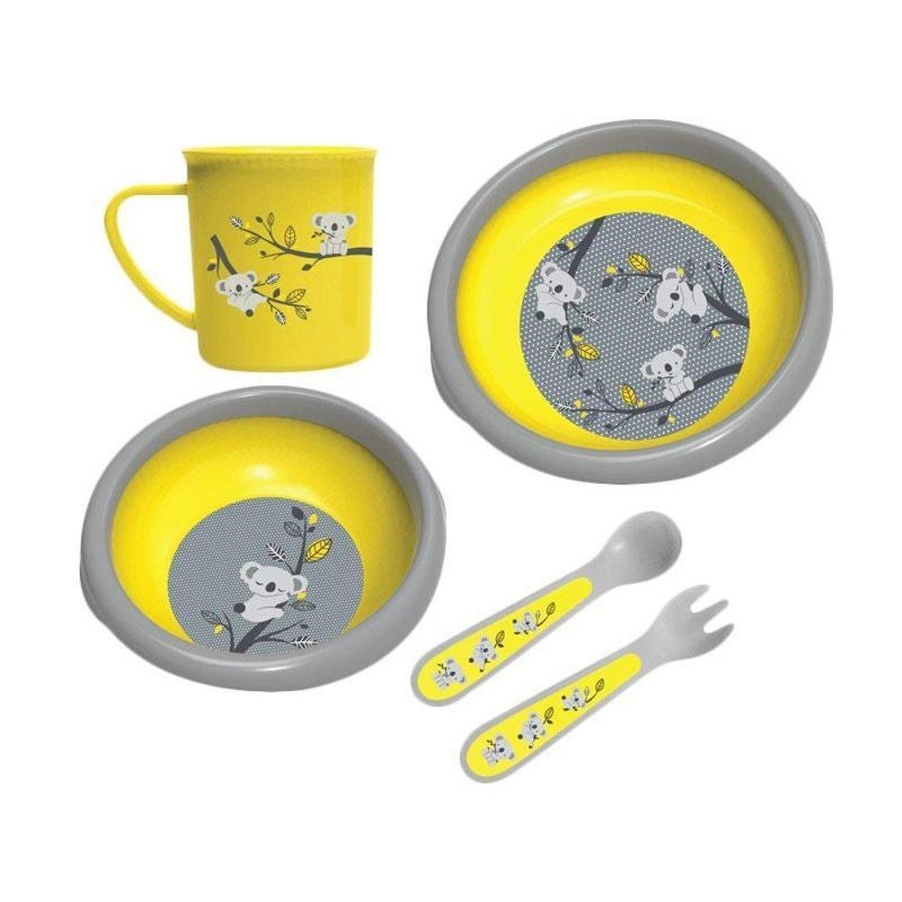 Lustybunny Feeding Set 5in1 Putih Daftar Harga Terbaik Terkini Lusty Bunny Perlengkapan Makan Bayi Tableware Code Lb 1353 Baby Safe Mealtime Collection Peralatan Yellow