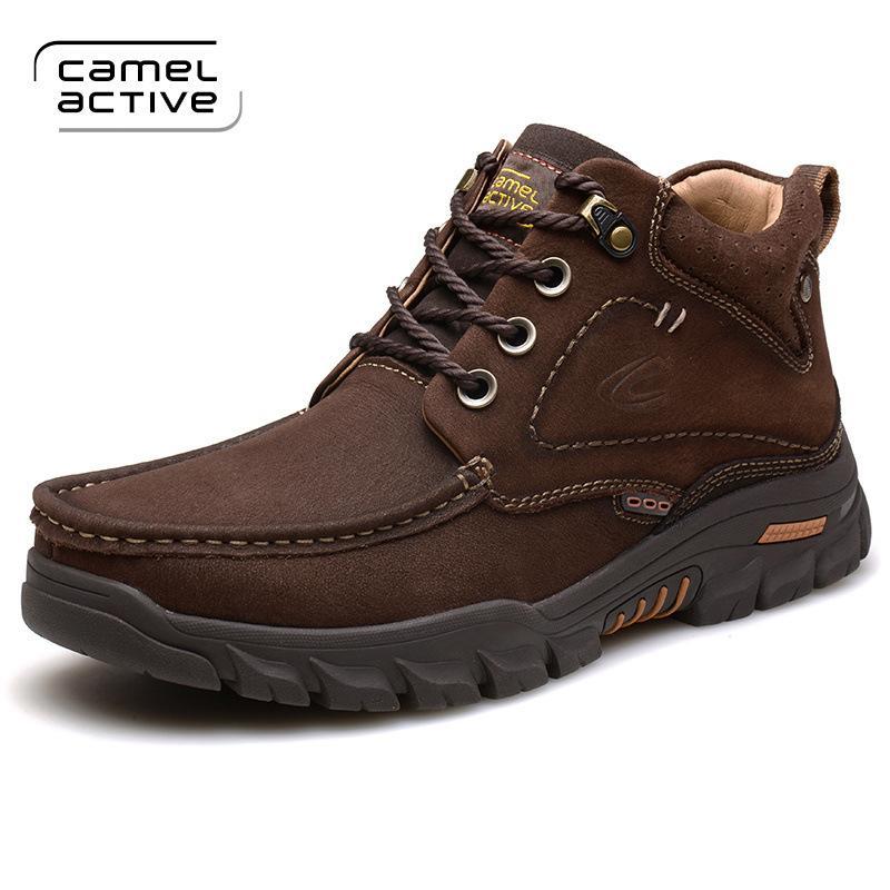 ST.WIN Sepatu luar ruangan Camel Active musim dingin pria Sepatu bot kasual Tambah beludru Pergelangan Kaki Tinggi Sepatu katun Anti Selip Penghangat sepatu bot pendek sepatu bot untuk naik gunung