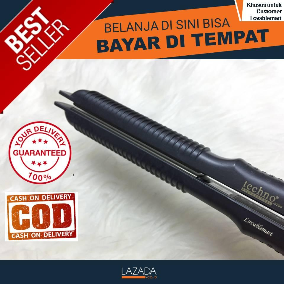Catokan Techno 2in1 Catok Rambut Lurus Ikal Keriting Hair Straightener   Curly  2 in 1 Bisa 330661682d