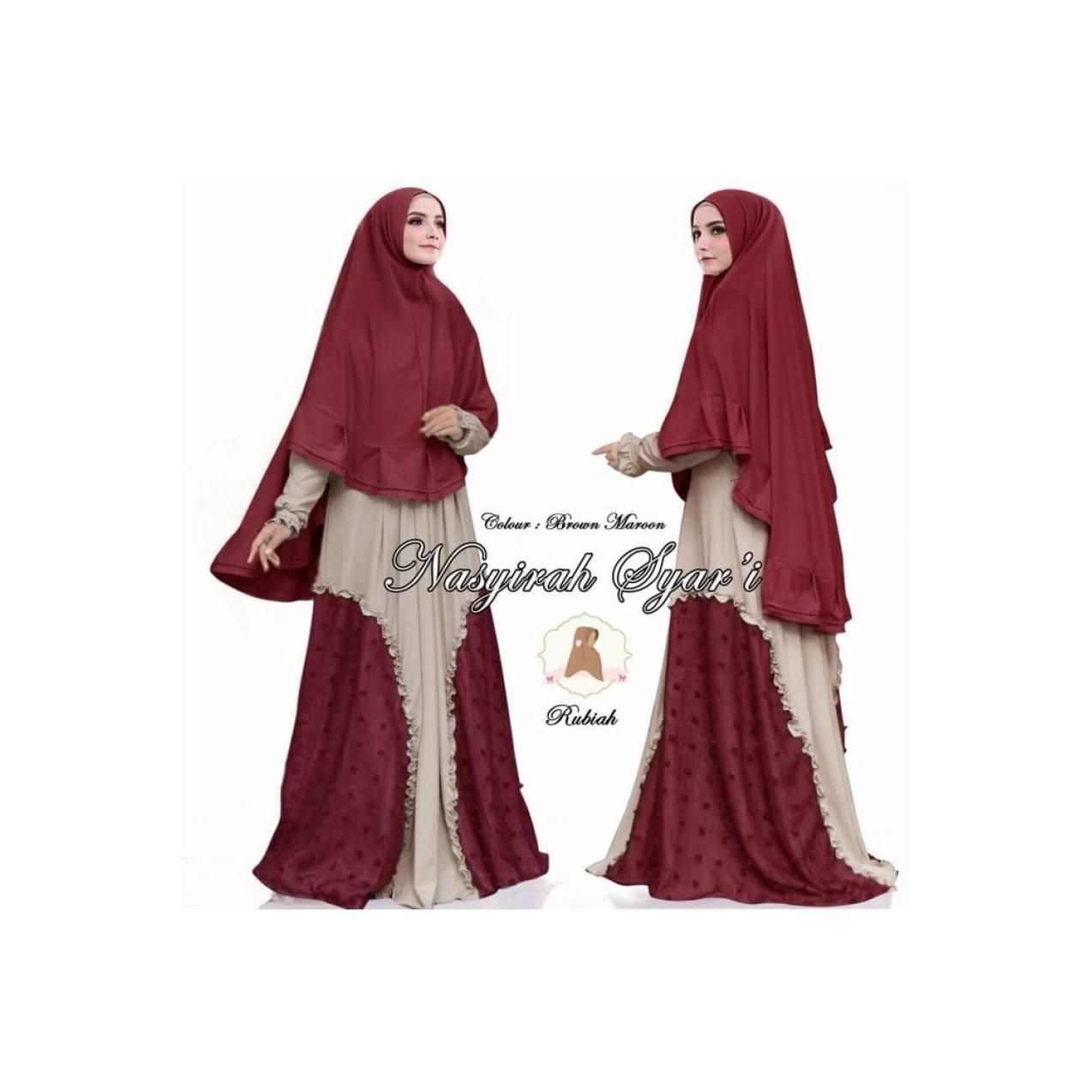Baju Pengantin Muslimah 120047 NASYIRAH RUBIAH SYARI BROWN-MARON