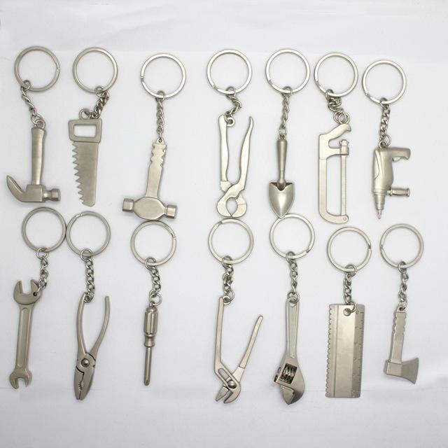 Gantungan Kunci Unik, Gantungan Kunci Miniatur Alat Perkakas Tools 1 Set Isi 12 pcs, Keychain Gantungan Kunci Besi Stainless, Gantungan Kunci Keren, Gantungan Kunci Lucu, Gantungan Kunci Murah, Gantungan Kunci Motor, Gantungan Kunci Mobil,Obeng, Kunci Pas