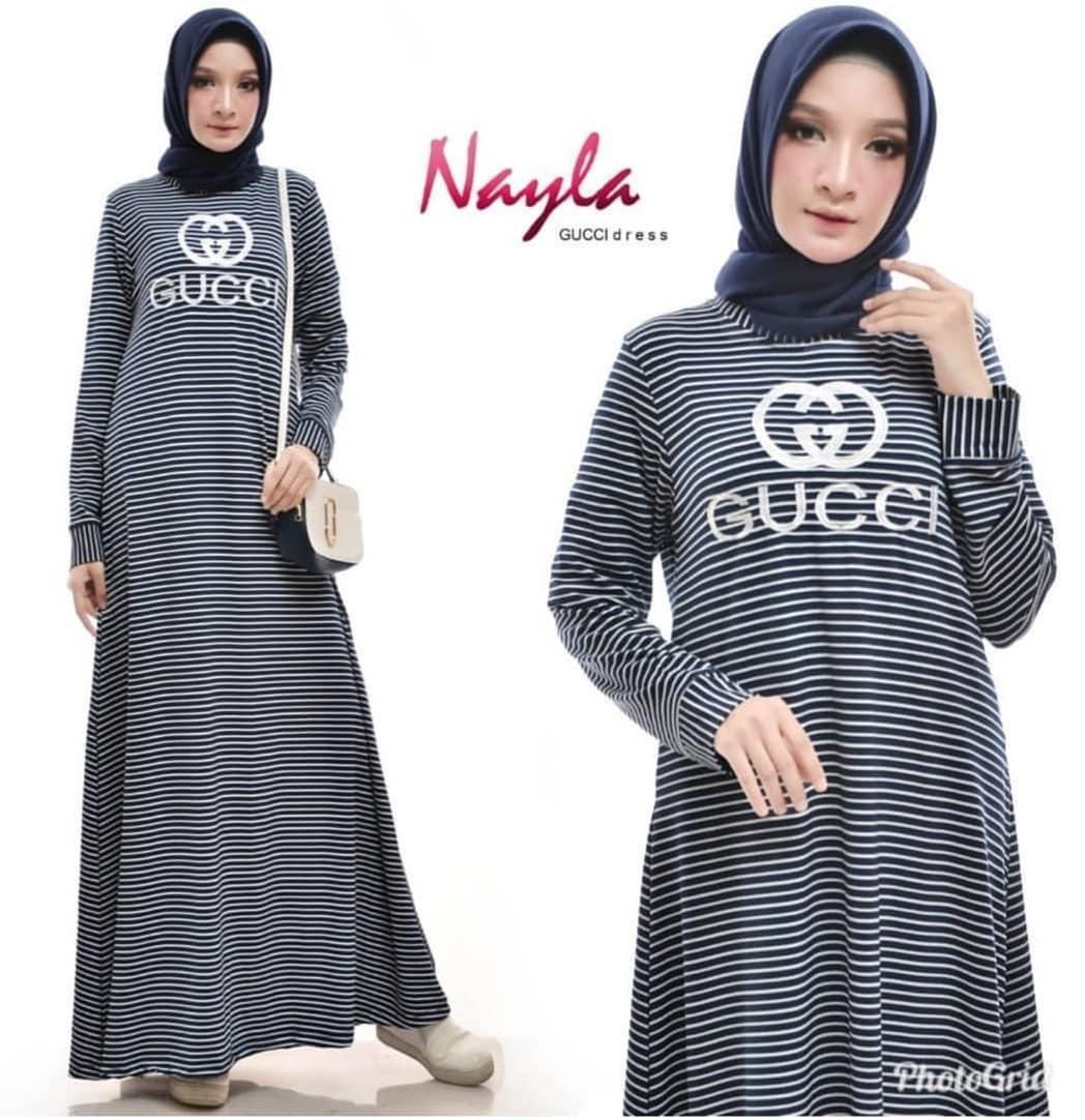 Gucci Stripe Maxi // Baju Gamis // Dress Wanita