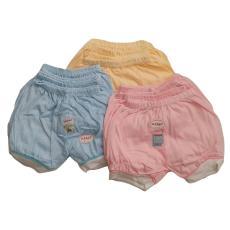 Jelova Selusin Celana Pendek Baby Bayi Usagi SQUARE Mix Warna- 12pcs - to 3-