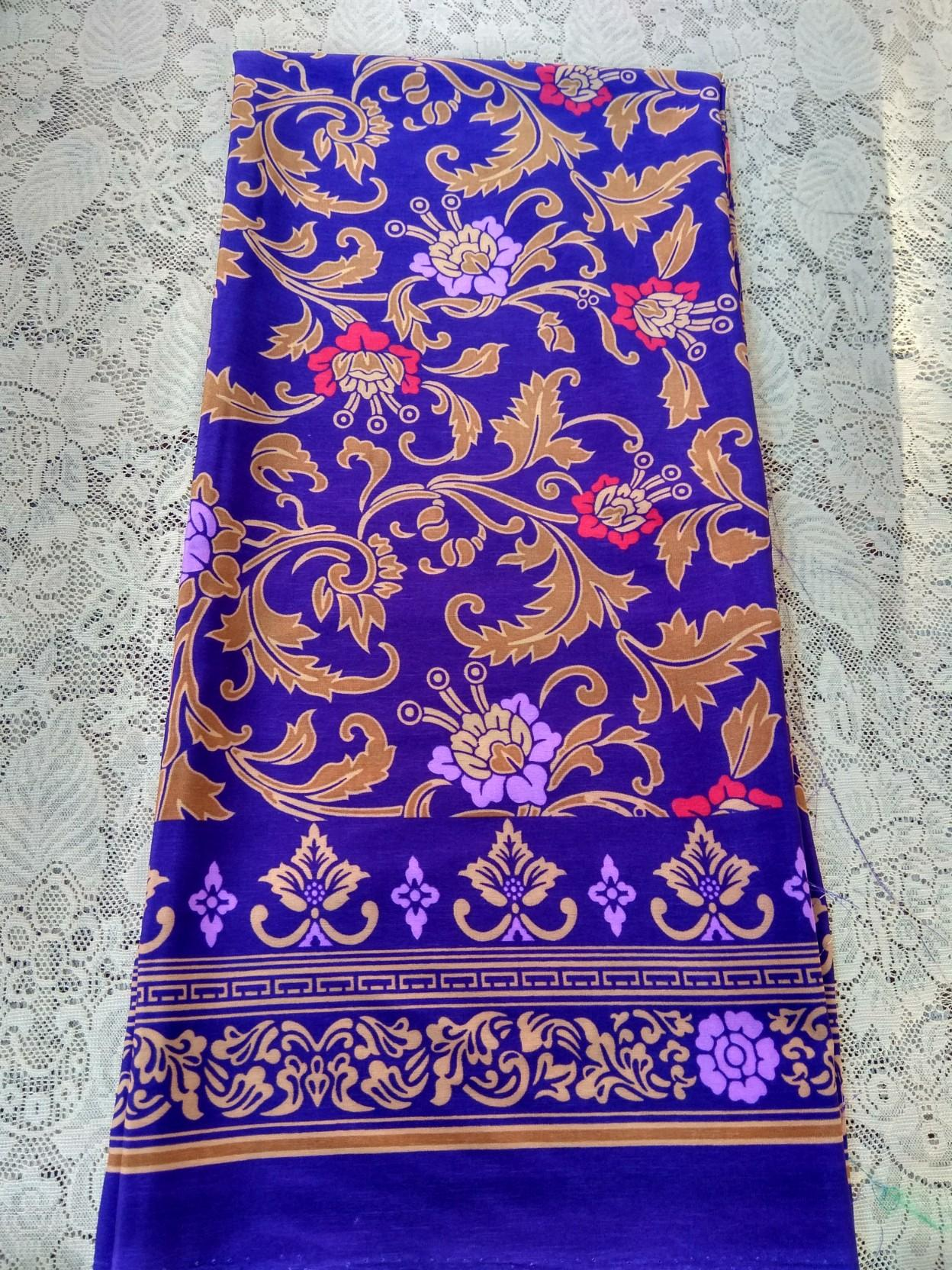kanaya - kain satin batik mawar rambat lembaran uk. 2 meter kain tradisional bali kain murah