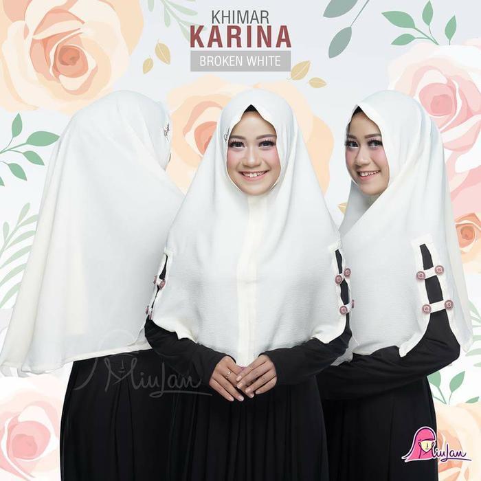 MiuLan Hijab Jilbab Kerudung Khimar Syar'i Cantik Polos Kancing KARINA A1982