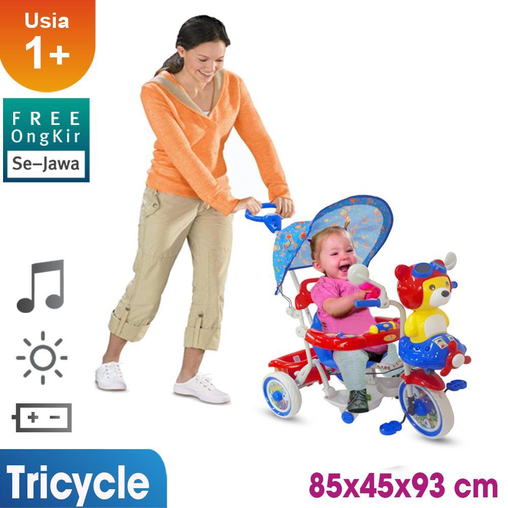 Mainan Sepeda Anak / Gratis Ongkir Full Pulau Jawa / Sepeda Roda Tiga / Sepeda Anak / Cowok Cewek / Mainan Anak T07 By Ocean Toy.