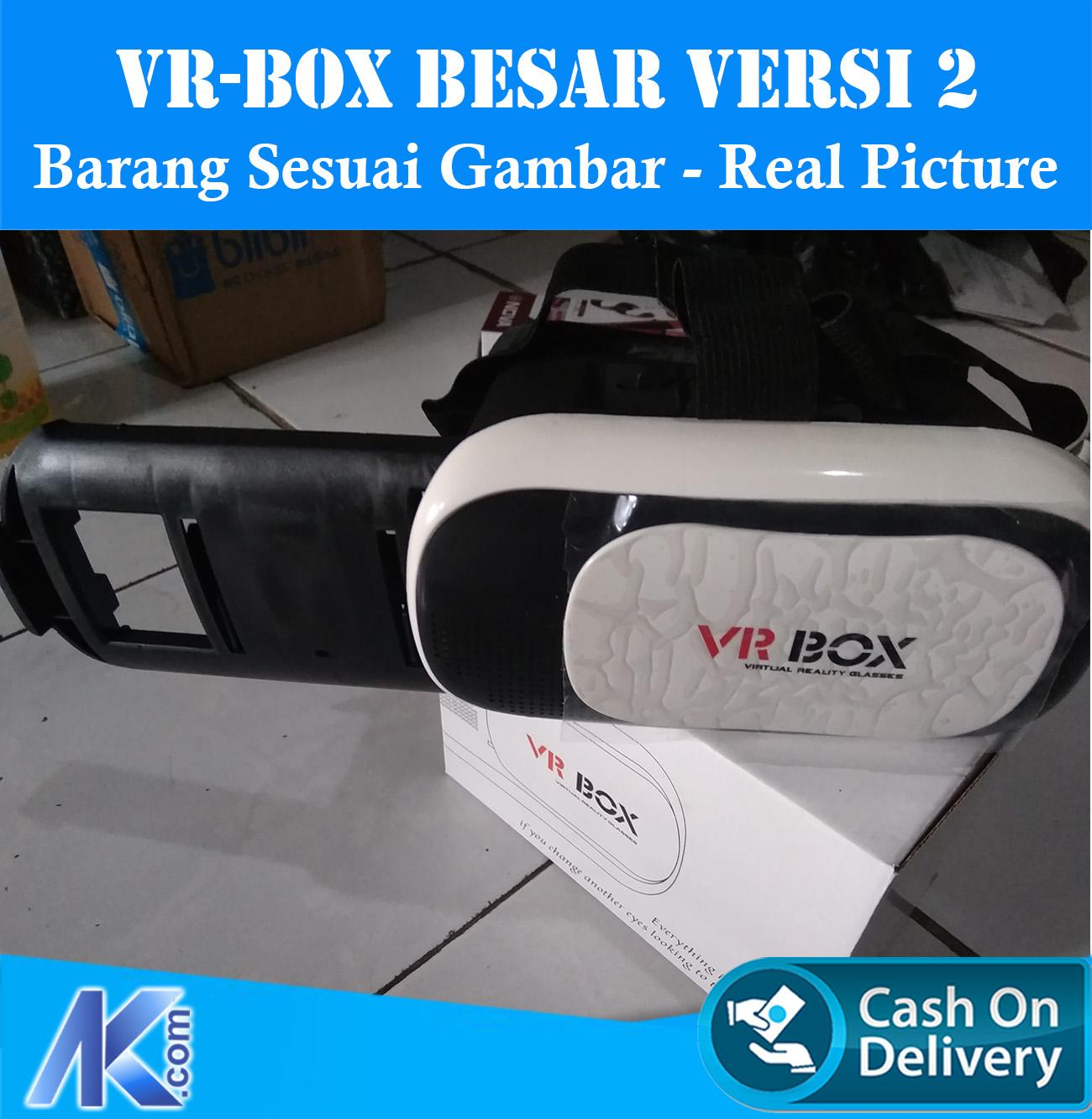 VR Box 3D Glasses BESAR / Virtual Reality Glasses FREE Headset Samsung REAL PICTURE