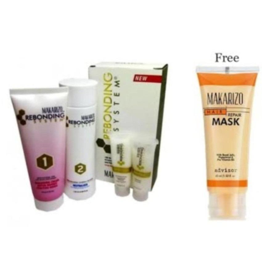 Makarizo Rebonding System Tube untuk Rambut Keriting Kribo, termasuk Shampo dan Conditioner 1 Paket + Masker Rambut Tube 45ml