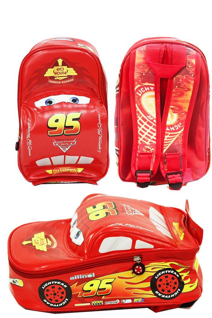 BGC Disney Cars 3D Lightning McQueen On The Road Tali Belakang Printing FULL