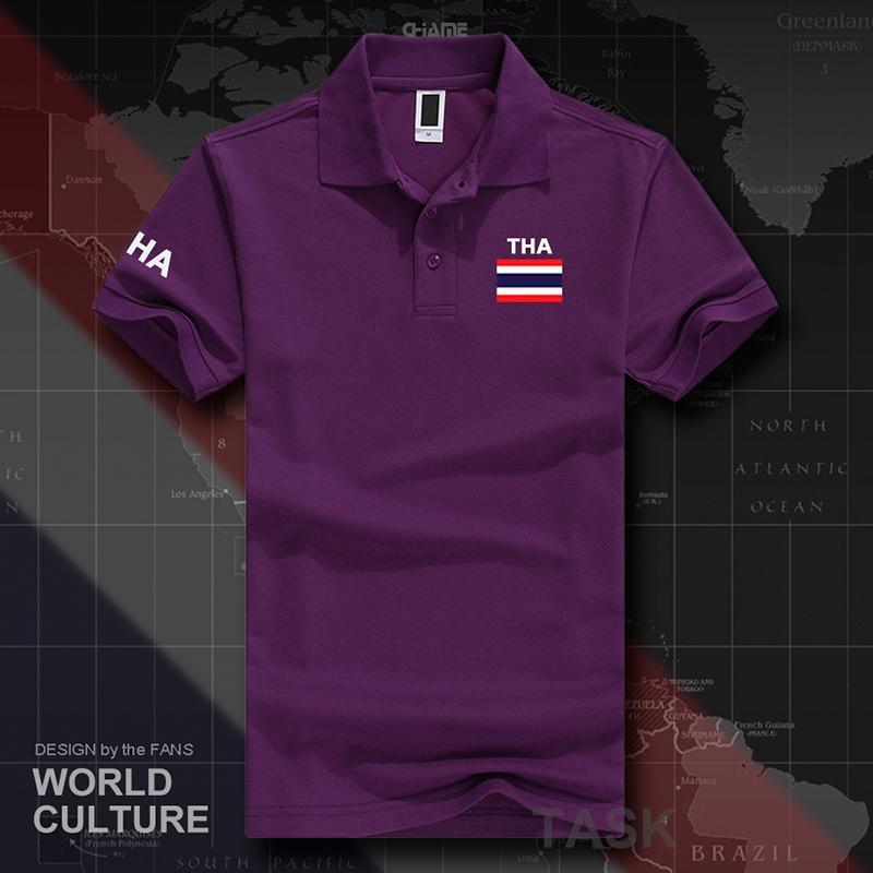 Thailand Baju Seragam Tim Etnis Kebugaran Kaus Musim Panas Lengan Pendek (POLO Angkatan Laut Warna