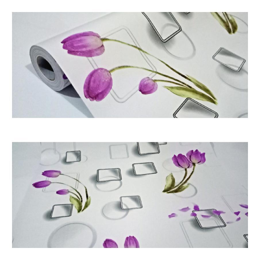 Grosir murah wallpaper sticker dinding kamar ruang indah bagus cantik elegan putih kotak kotak abu abu