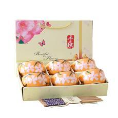 ✅Model Jepang Keramik Mangkok sumpit Set Keramik Peralatan makan porselen mangkuk piring Set hadiah mangkuk
