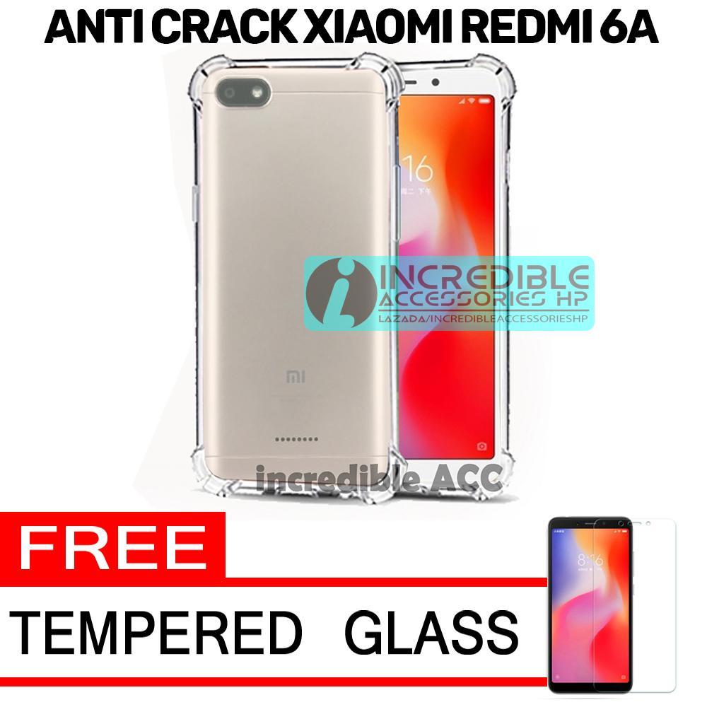 Anti Crack for Xiaomi Redmi 6A Softcase Elegant Anti Shock Jelly Case - Bening + Free Tempered Glas