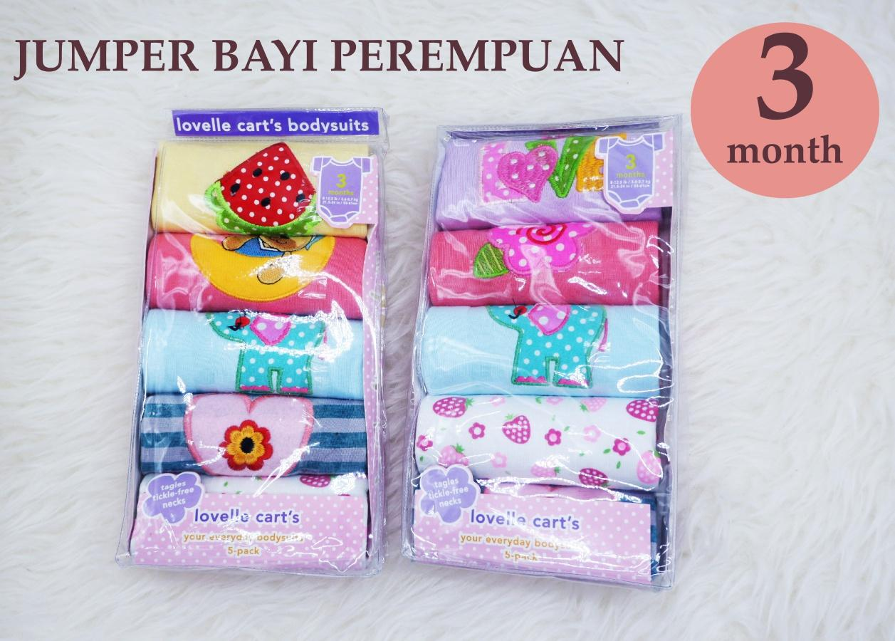 Mesh Lovelle Carts Bodysuits - Jumper Bayi Peremuan Baby Girl By Carter Tangan Pendek - 1 Pack Isi 5 Pcs By Mesh Store.