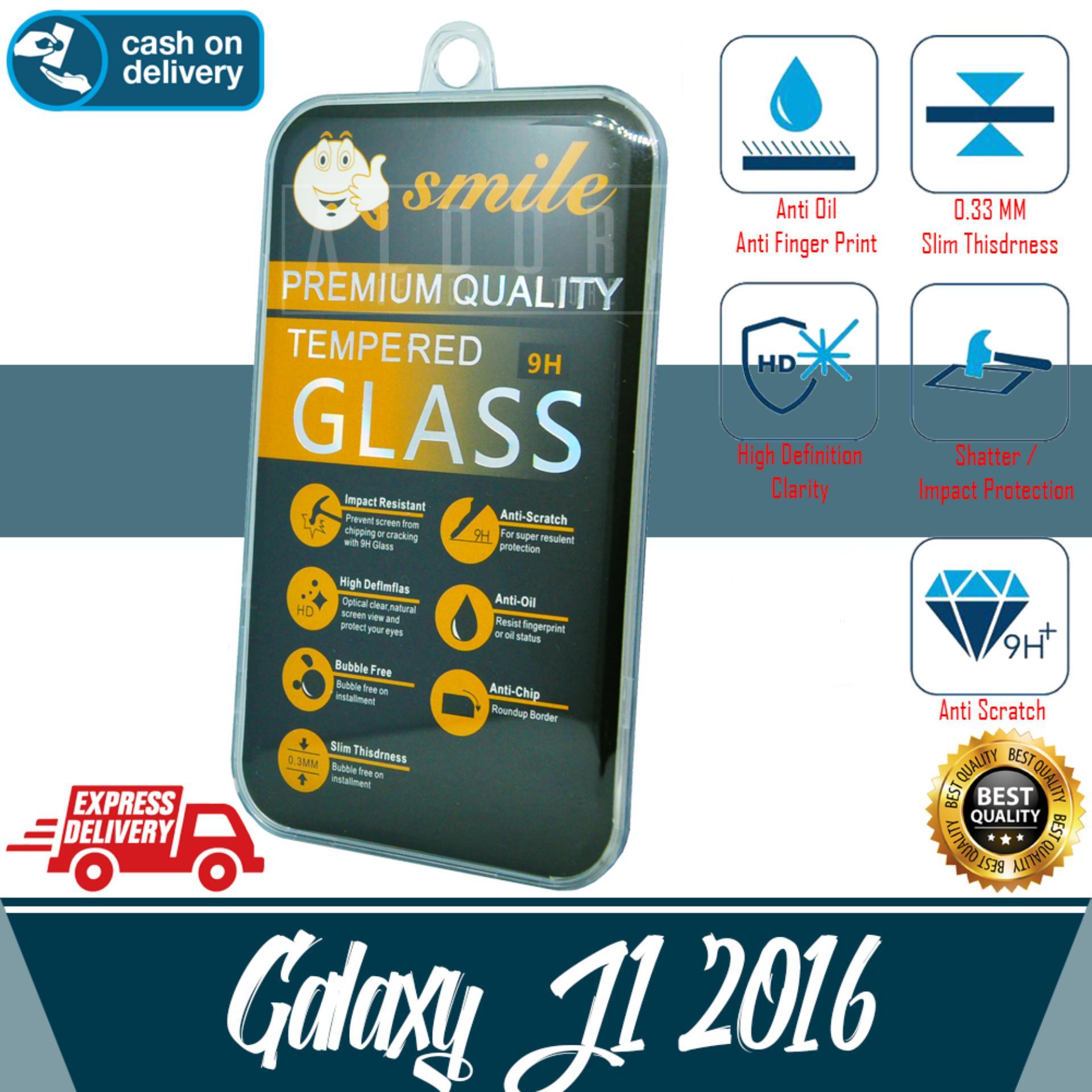 Aldora Tempered Glass Anti Gores Kaca Pelindung Layar Smile Series For Samsung Galaxy J120 / J1
