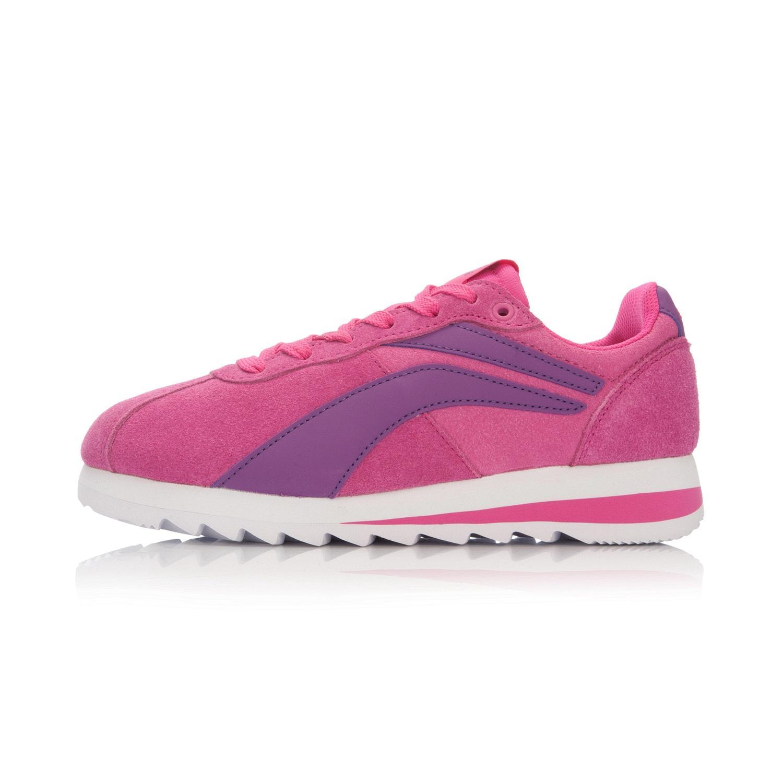 LINING ARCL032 wanita wanita sepatu olahraga (Fluoresensi Berry Hong/rouge merah muda/Gan biru-violet)