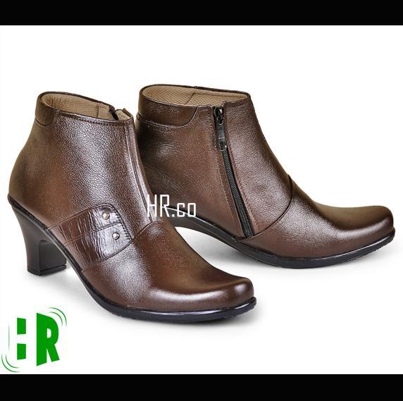 Sepatu Pantofel Heels Boots Wanita Boot Formal Cewek Kerja Cibaduyut