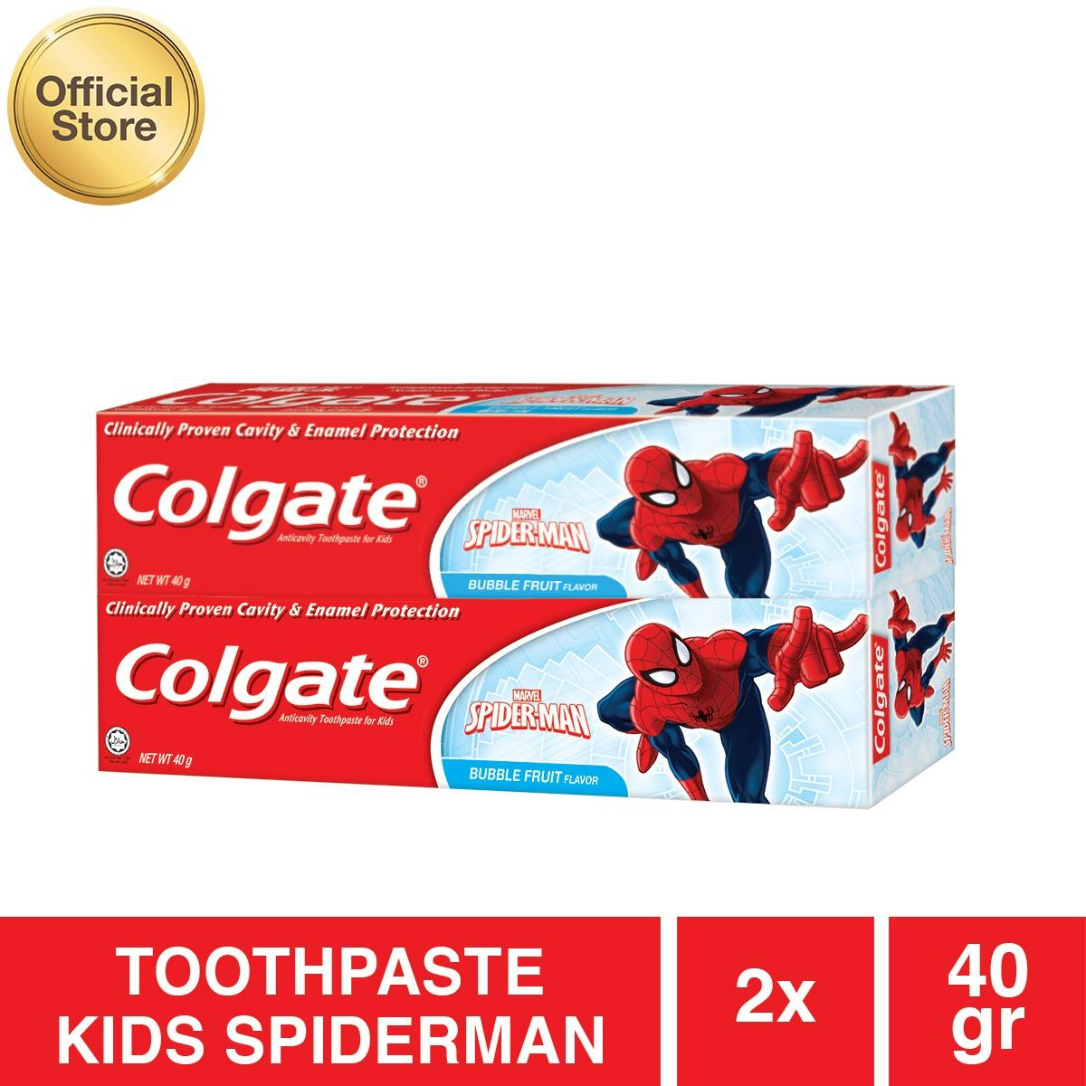 Colgate Maximum Cavity With Sugar Acid Neutralizer Cool Mint Formula Pasta Gigi For Strong Protector Toothpaste Kids Spiderman 40g 2pc