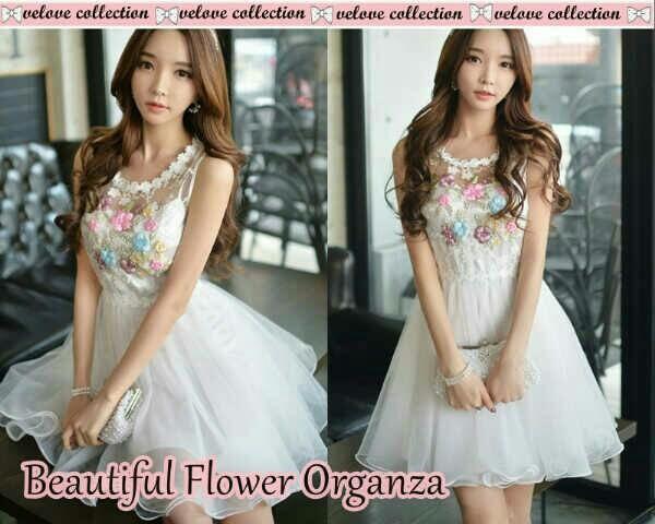 MJ Dress FLower - Beautifull white