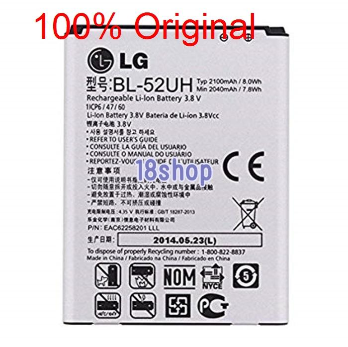 Batere baterai Battery LG D285 L65 Dual F60 L65 D280 L7 BL-52UH Original . Baterai batre LG D285 L65 Dual F60 L65 D280 L7 BL-52UH Original