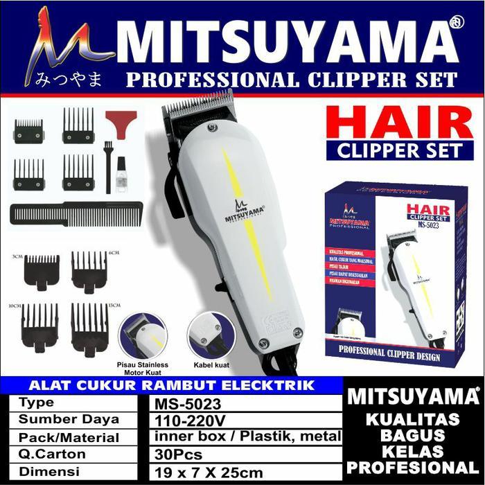 Alat Cukur Rambut Elektrik Professional Hair Clipper Mitsuyama MS-5023