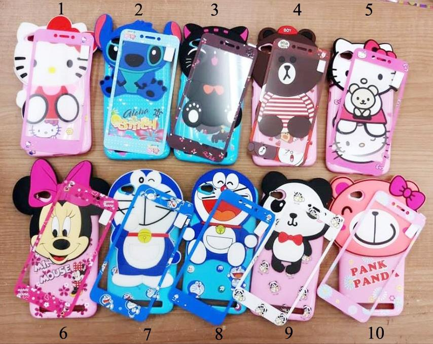 Softcase 4Dimensi Karakter BONEKA TIMBUL For SAMSUNG GALAXY J2 PRIME Free Tempered Glass 360 Motif Senada