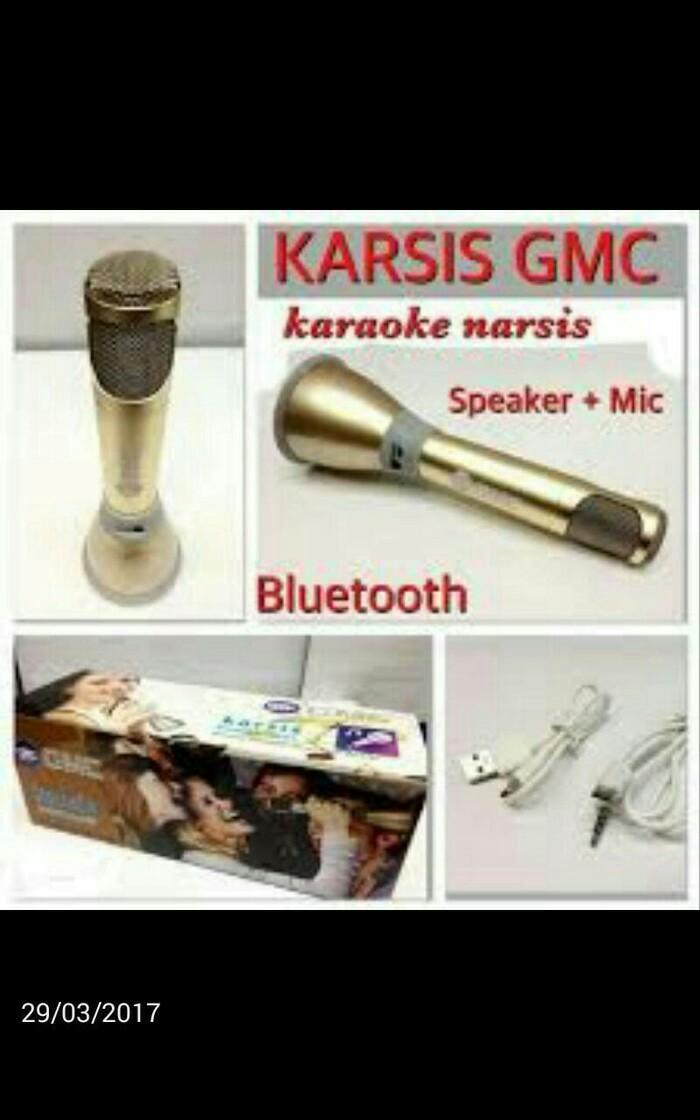 GMC TECKYO original KARSIS MAGIC KARAOKE smule usb mic mik bluetooth bluetoot bluetot speaker mini radio karaoke mp3 cas charger wireles wireless gratis ongkos kirim