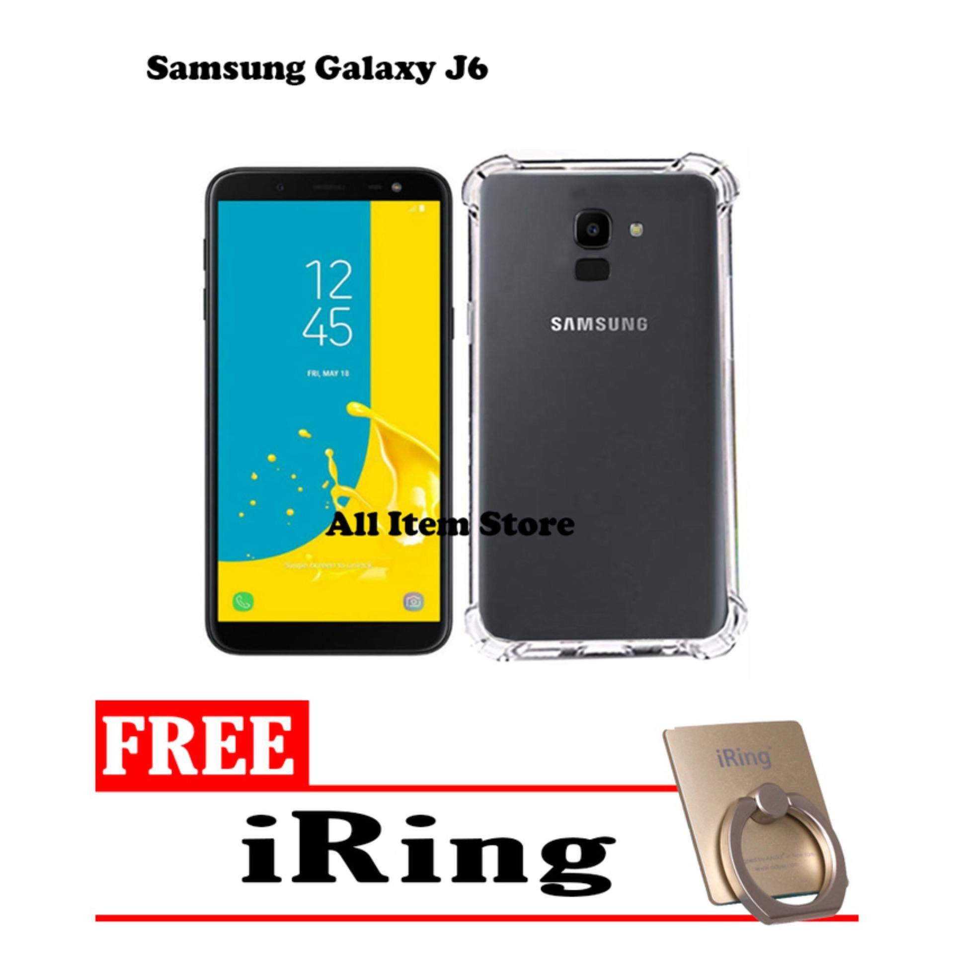 Case Anti Crack / Case Anti Shock Elegant Softcase For Samsung Galaxy J6 2018 - Bening + Free iRing