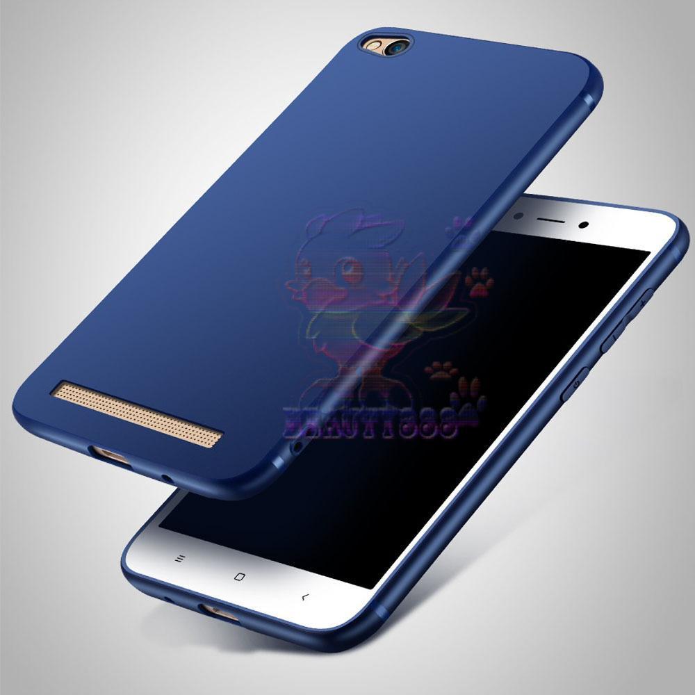 Lize Case Xiaomi Redmi 5A Rubber Silicone Anti Glare Skin Back Case / Silikon Xiaomi Redmi 5A / Jelly Case / Ultrathin / Soft Case Slim Blue Matte Xiaomi Redmi 5A / Casing Hp / Baby Skin Case - Navy / Biru Tua