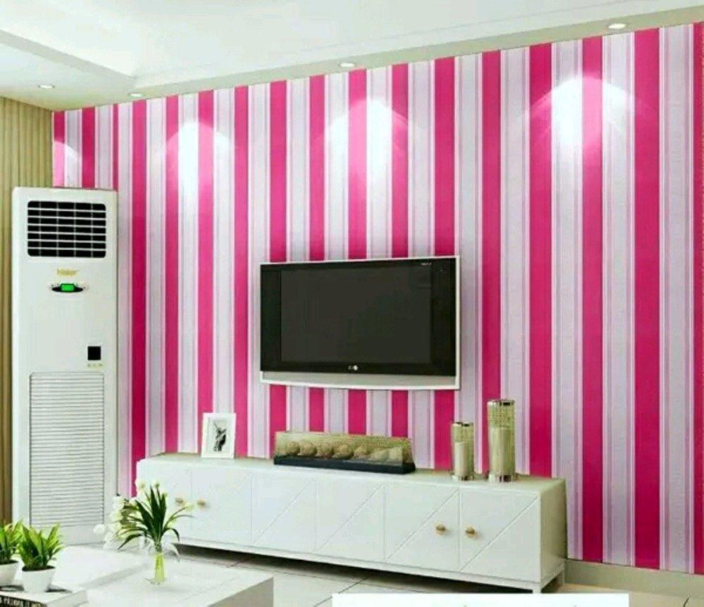 Wallpaper Sticker Dinding Kamar salur pink...KEYLA_ACC