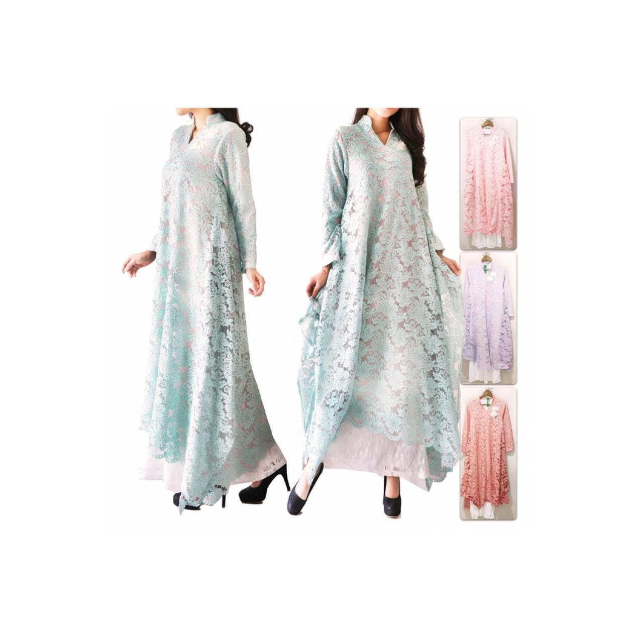 Gamis Maxi Full Brukat Zaskia / Maxi Dress / Lace Dresses / 11727